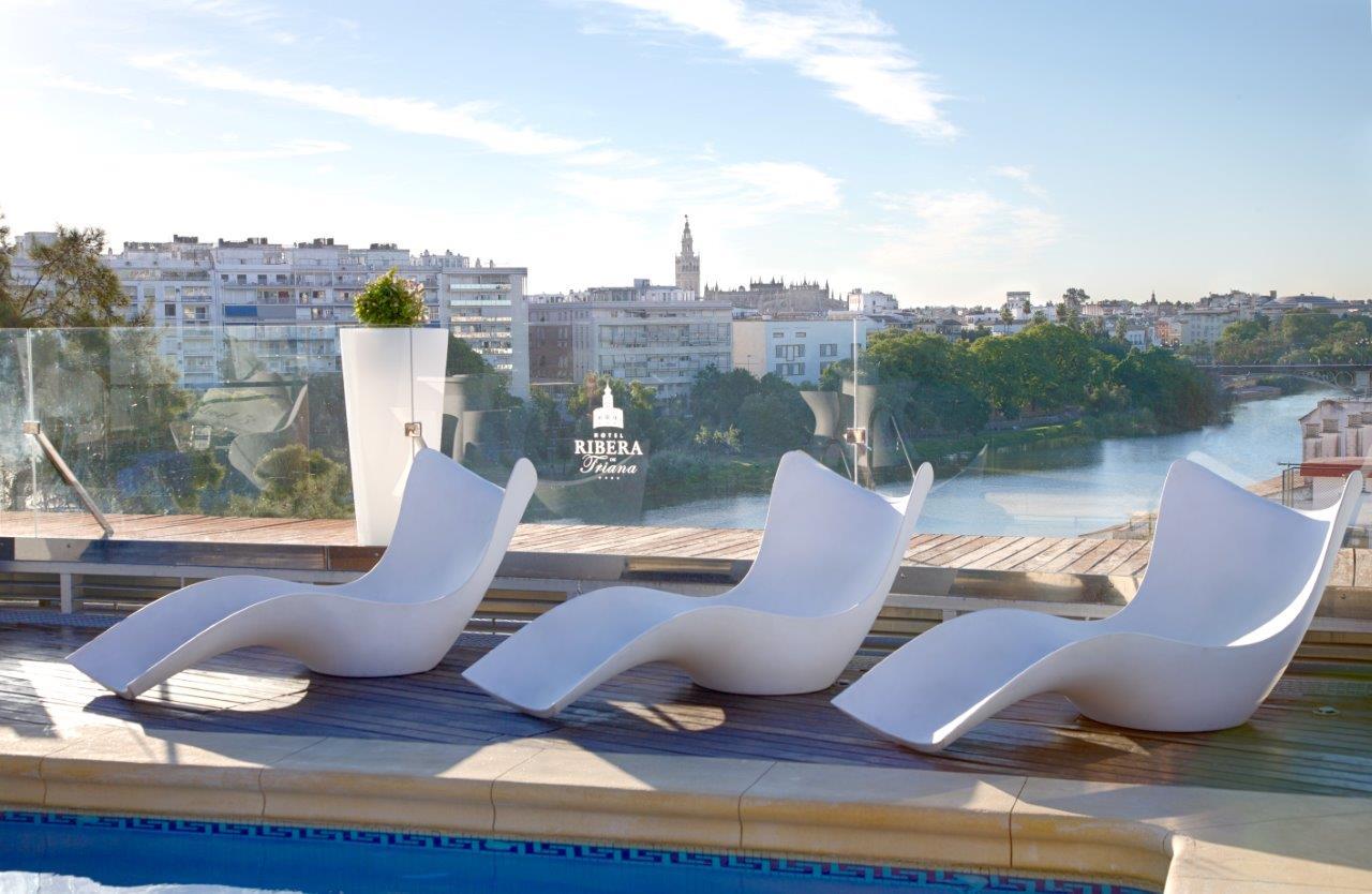 hoteles con piscina en sevilla hotel ribera de triana